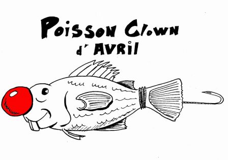 poisson clown d'avril